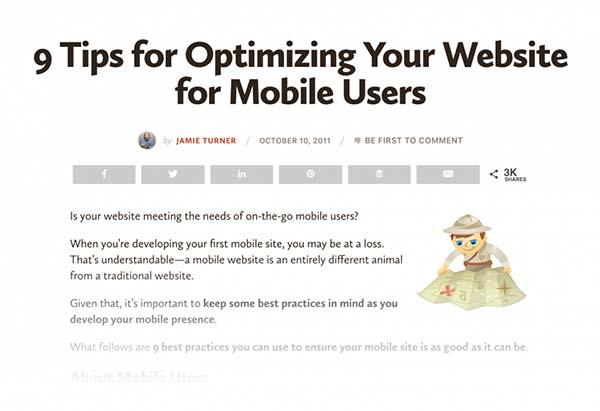 محتواهای موجود برای بهینه سازی موتورهای جستجو در موبایل
