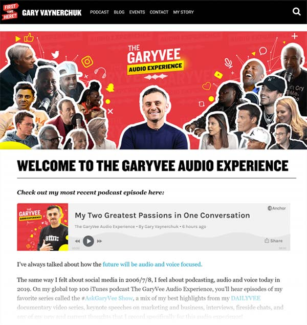 پادکست GaryVee Audio Experience