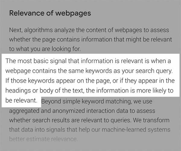 گزارش گوگل در رابطه با سئو داخلی