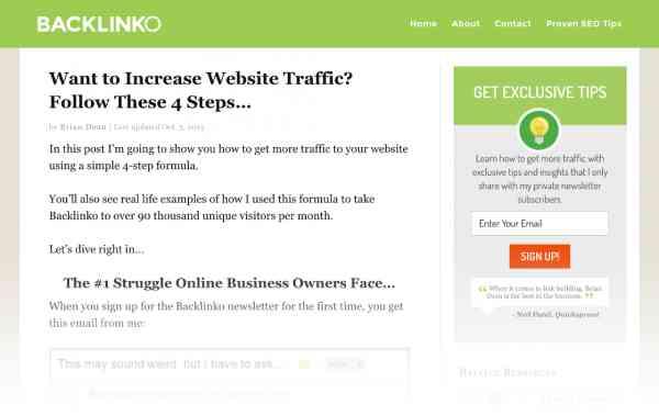 دریافت ترافیک بیشتر برای وب سایت