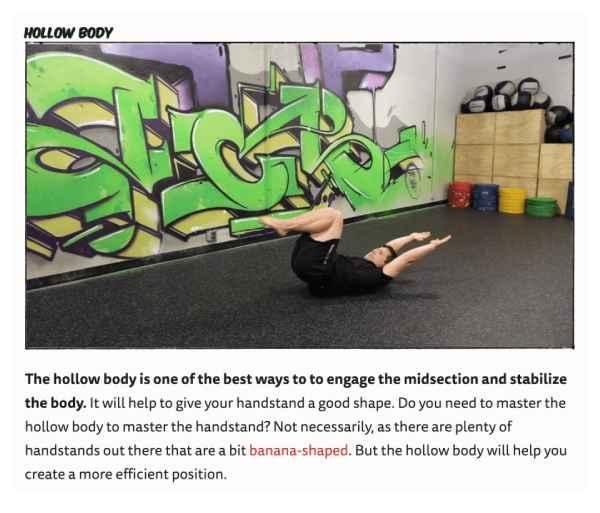 استفاده از تصاویر در سایت Nerd Fitness برای نشان دادن تکنیک ورزشی