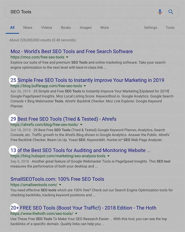 جایگاه مقالات ابزارهای بهینه سازی موتورهای جست و جو