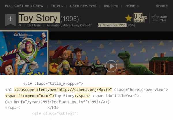 استراکچر دیتای انیمیشن داستان اسباب بازی ها